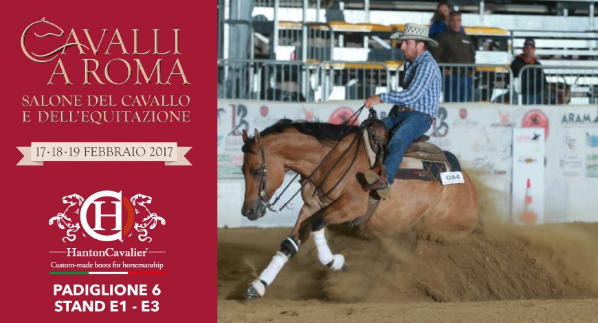 HantonCavalier present at the 2017 edition of Cavalli in Rome – 17-19 February 2017 Fiera di Roma